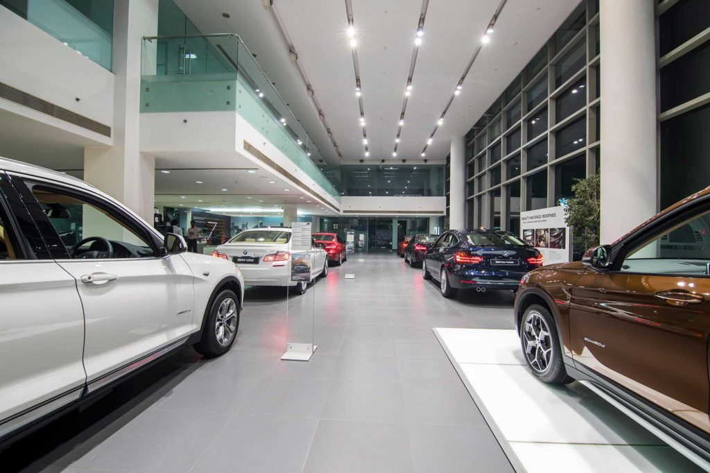 Architecture photographer BMW Showroom Gurgaon NCR