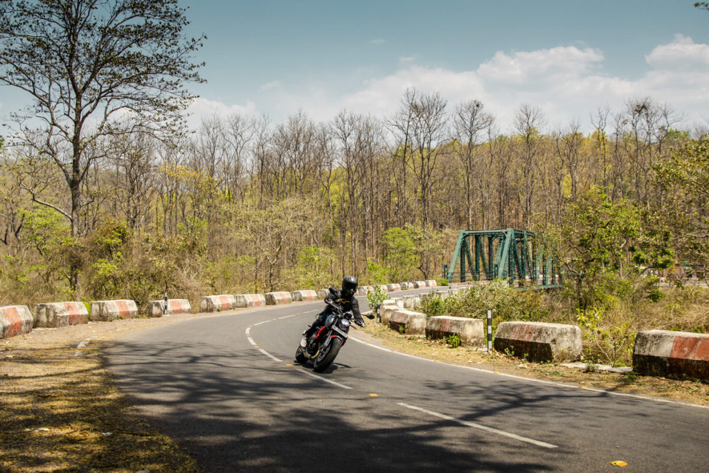 Trident 660 Media Ride India Launch in uttrakhand under clear blue skies